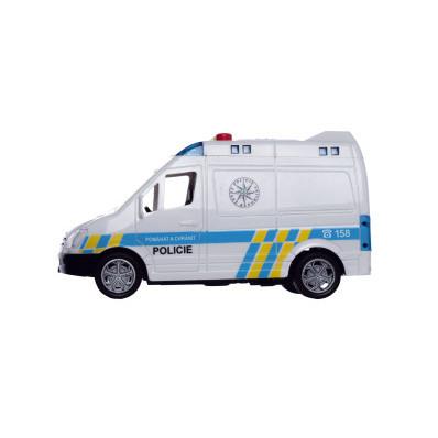 Auto policie dodávka 15 cm na setrvačník se zvukem/světlem