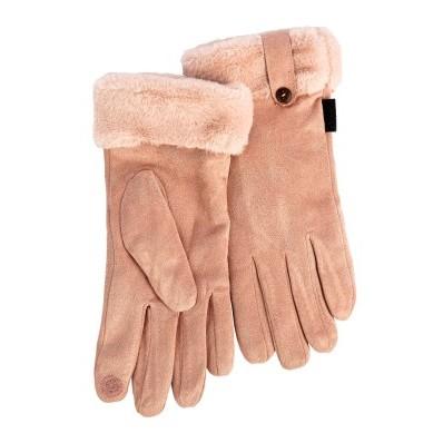 Dámské rukavice v semišovém vzhledu