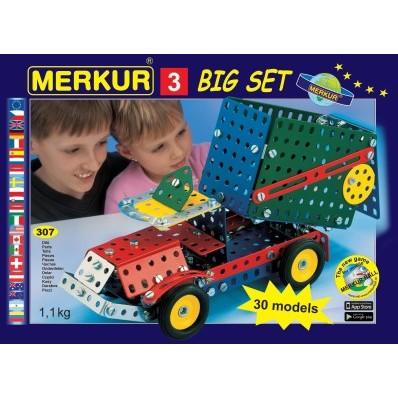 Stavebnice MERKUR 3 30 modelů 307 ks