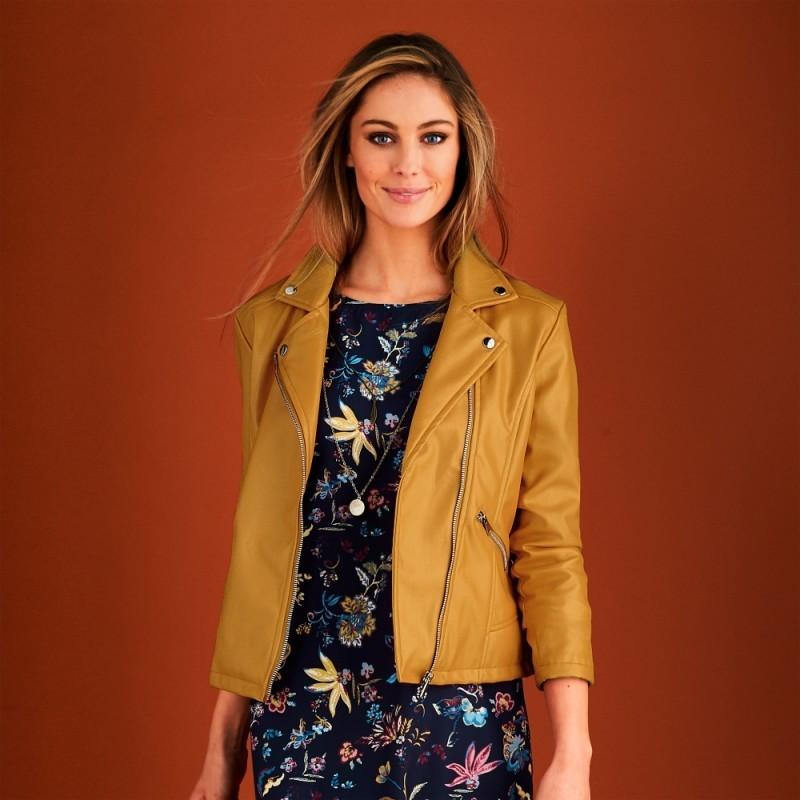 Koženková bunda na zips