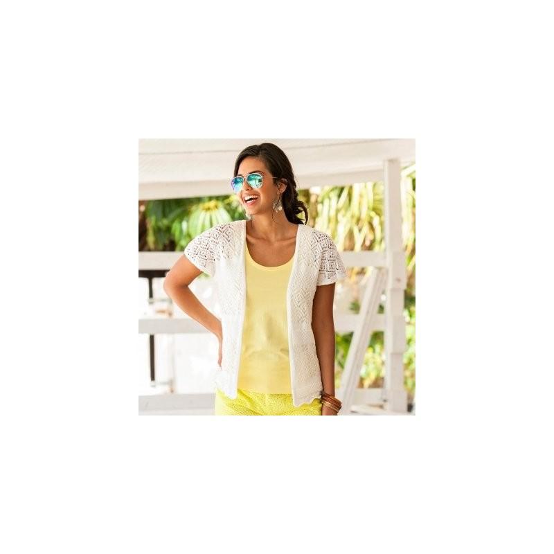 Bavlněný macramé svetr