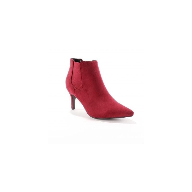 Semišové boty na podpatku