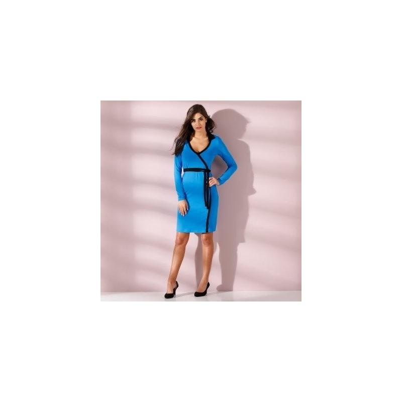 Dvoubarevné šaty s překřížením