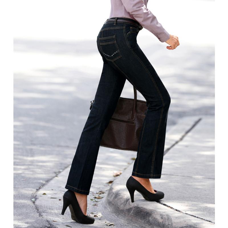Džínsové nohavice s vysokým pásom