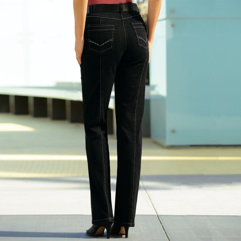 Džínsy so štrasom, dl. menej ako 1,60 m