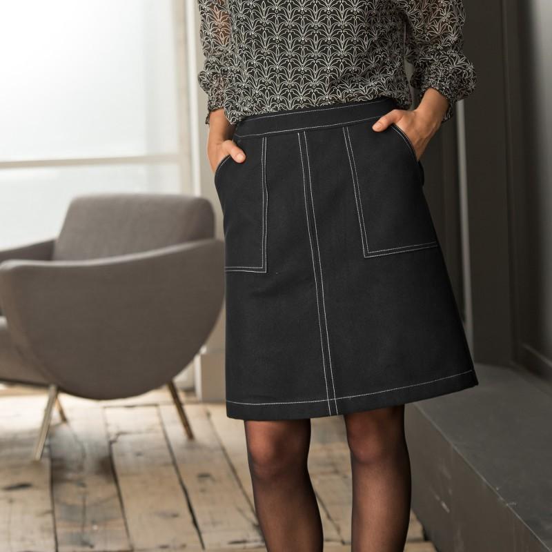 Dvojfarebná rozšírená sukňa