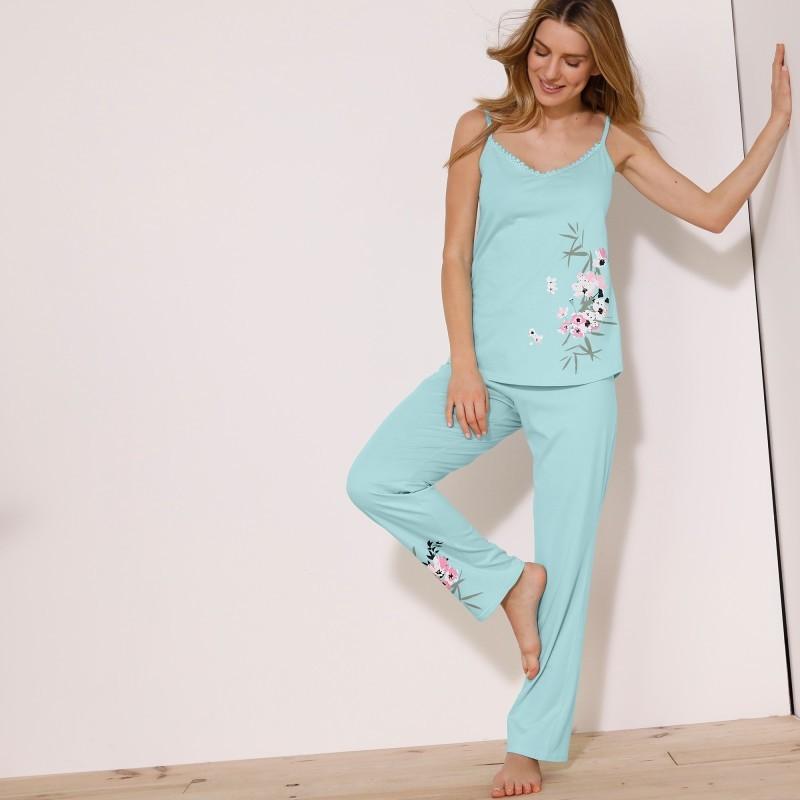Pyžamové nohavice so stredovou potlačou