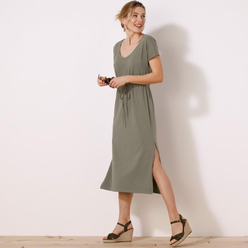Šaty dlhé, jednofarebná