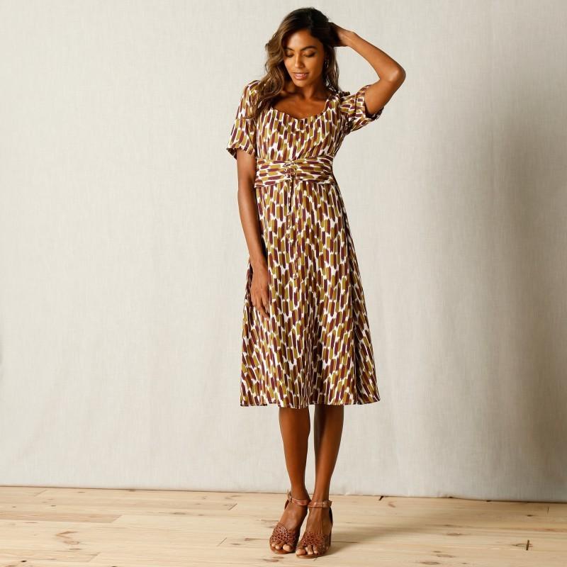 Volánikové šaty s potlačou