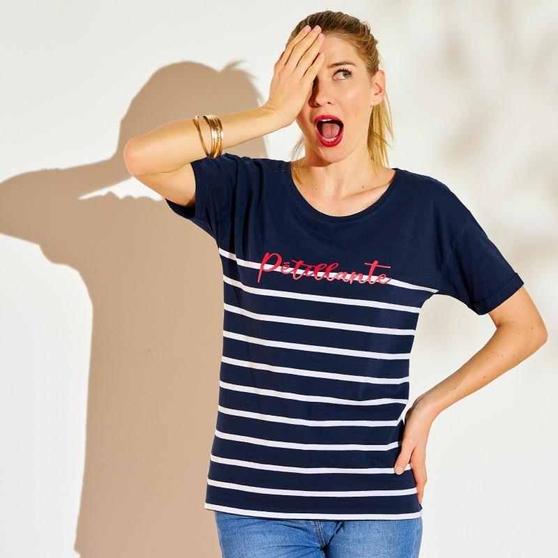 Námořnické tričko s potiskem textu