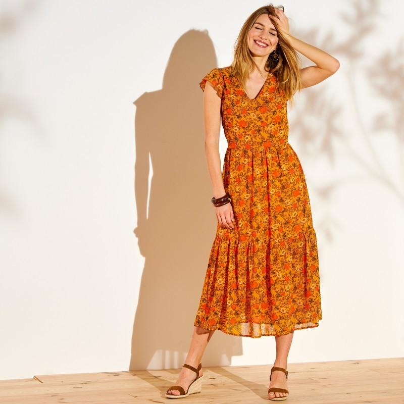 Dlhé šaty s potlačou