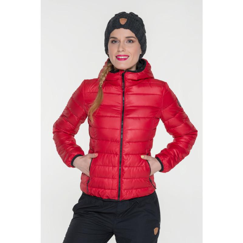 Dámská bunda s kapucí a kontrastními zipy Sam 73