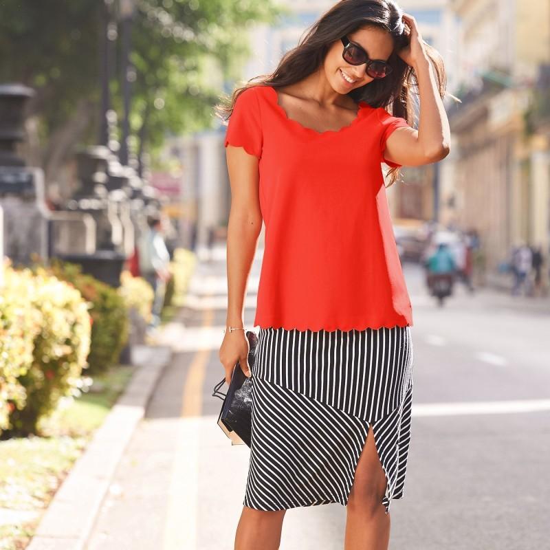 Pruhovaná sukňa