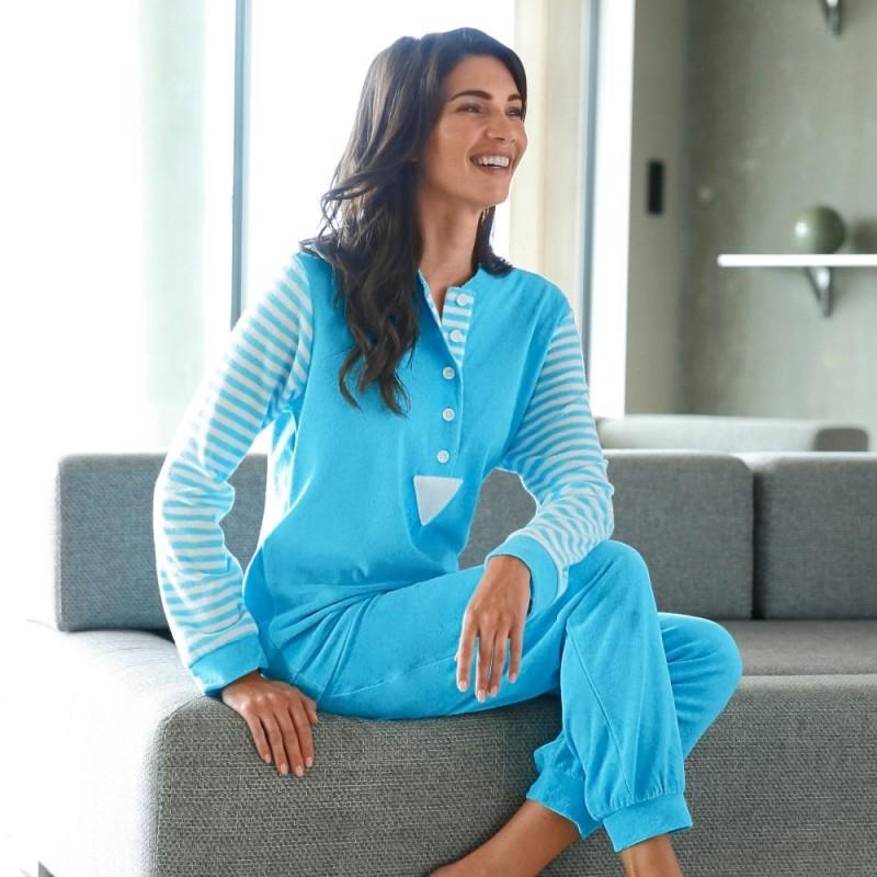 Dámské froté pyžamo