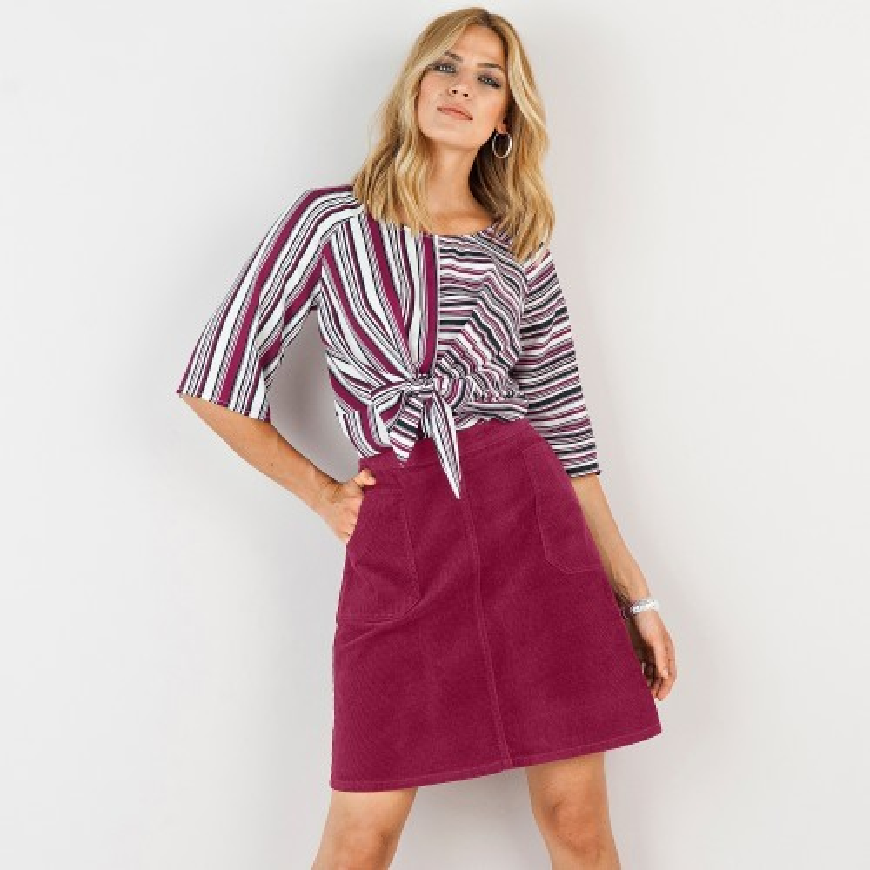 Manšestrová rozšířená sukně