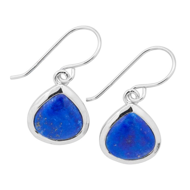 Náušnice ze stříbra a lapis lazuli