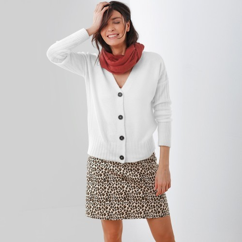 Rozšírená sukňa so zvieracím vzorom