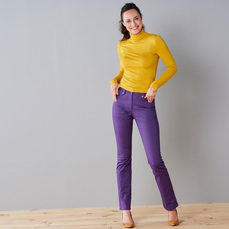 Rovné kalhoty s vysokým stahujícím pasem