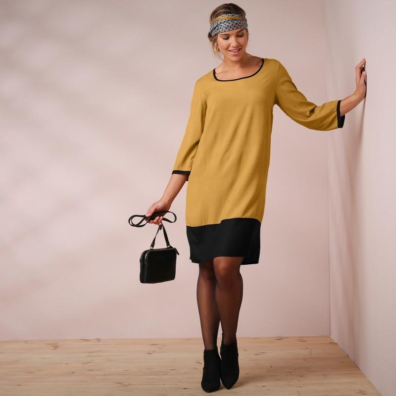 Šaty dvojfarebné