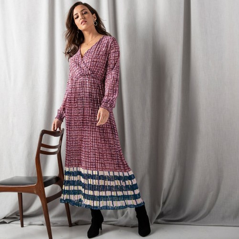 Dlhé plisované šaty