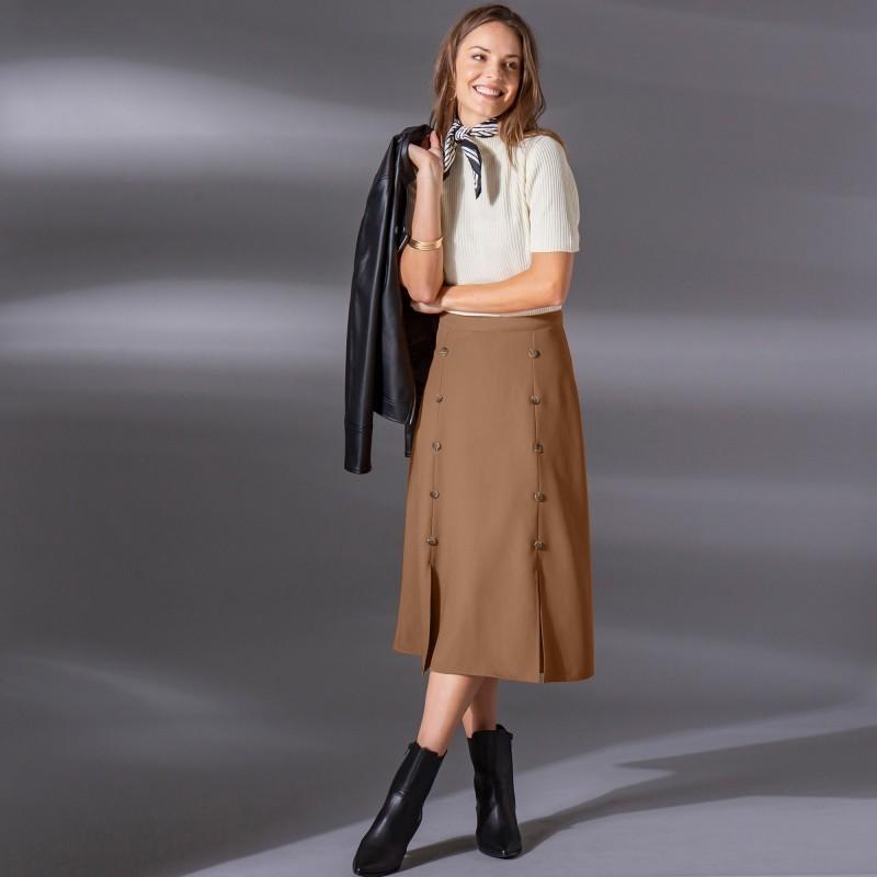 Midi sukňa s gombíkmi