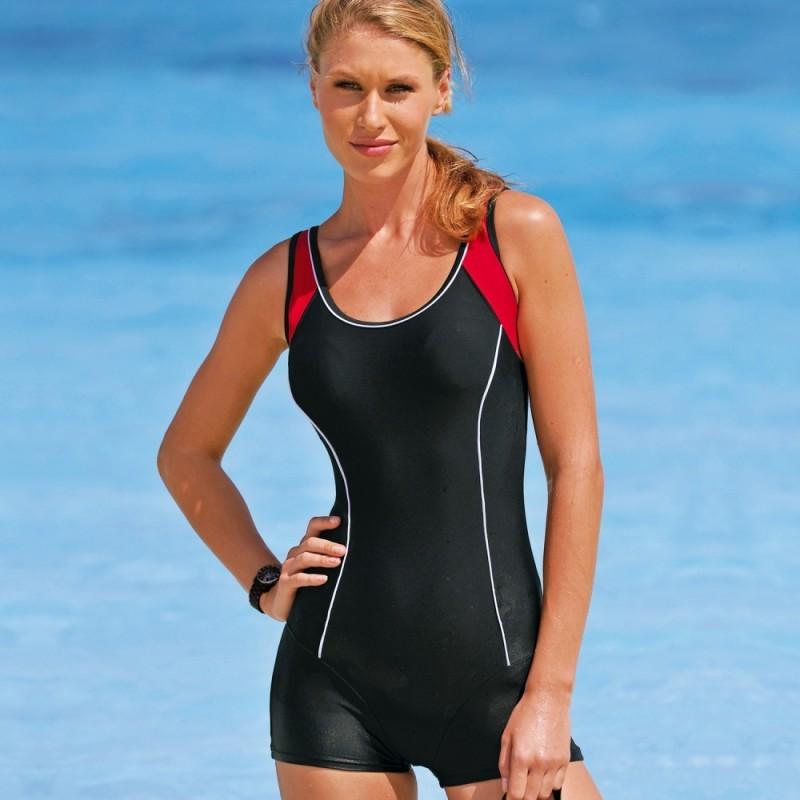 Jednodílné plavky s nohavičkami, menší postava