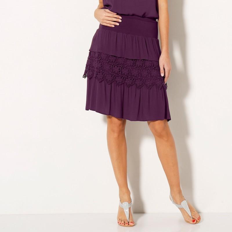 Volánová macramé sukňa