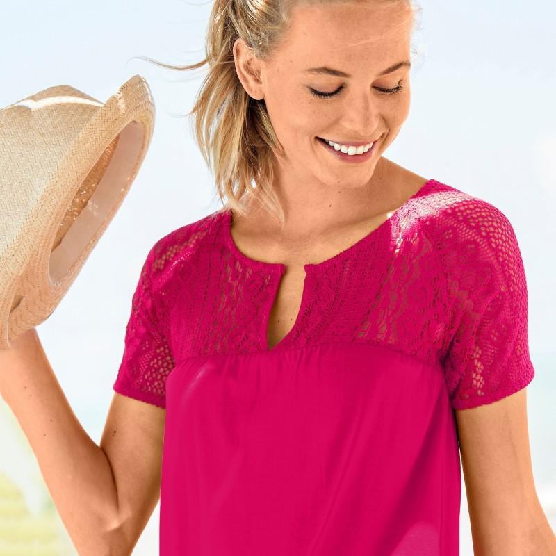 Macramé tričko s krátkými rukávy