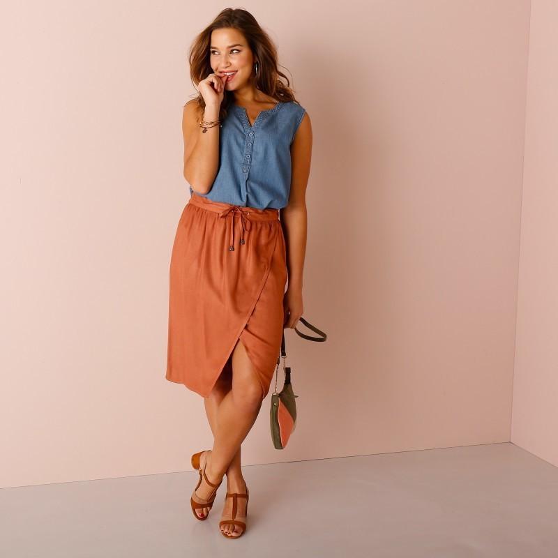 Puzdrová sukňa s pružným pásom