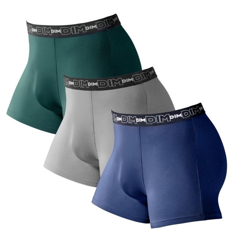 Jednofarebné boxerky, súpr. 3 ks