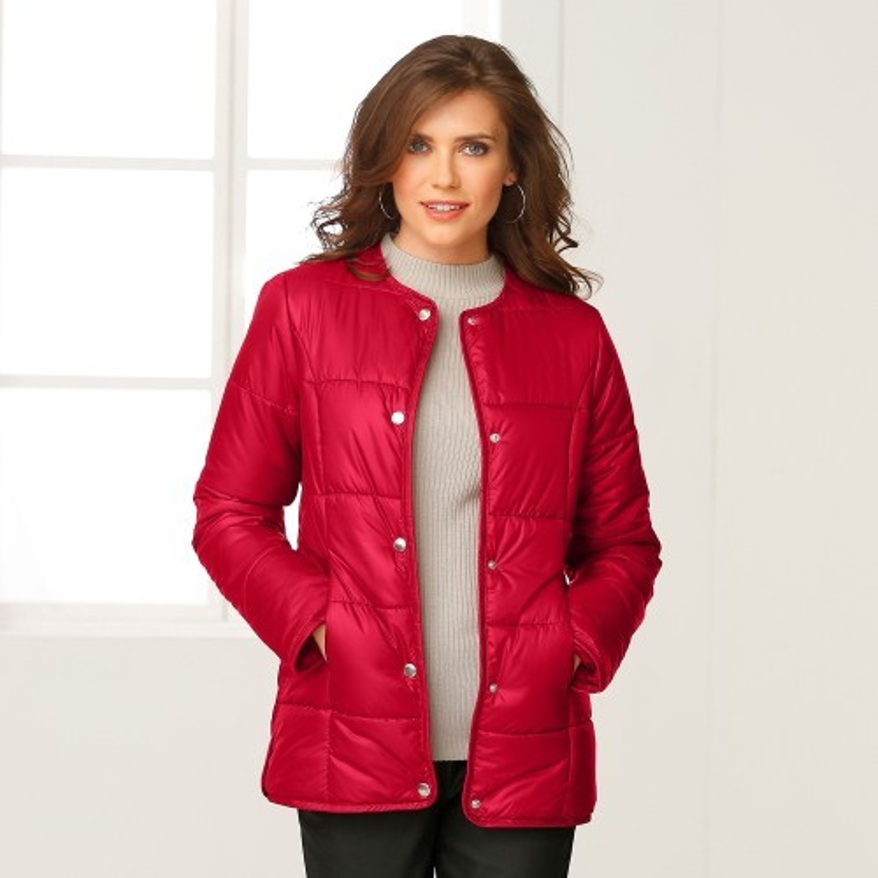 Prešívaná bunda jednofarebná