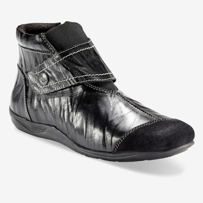 Kotníkové boty z pružné kůže