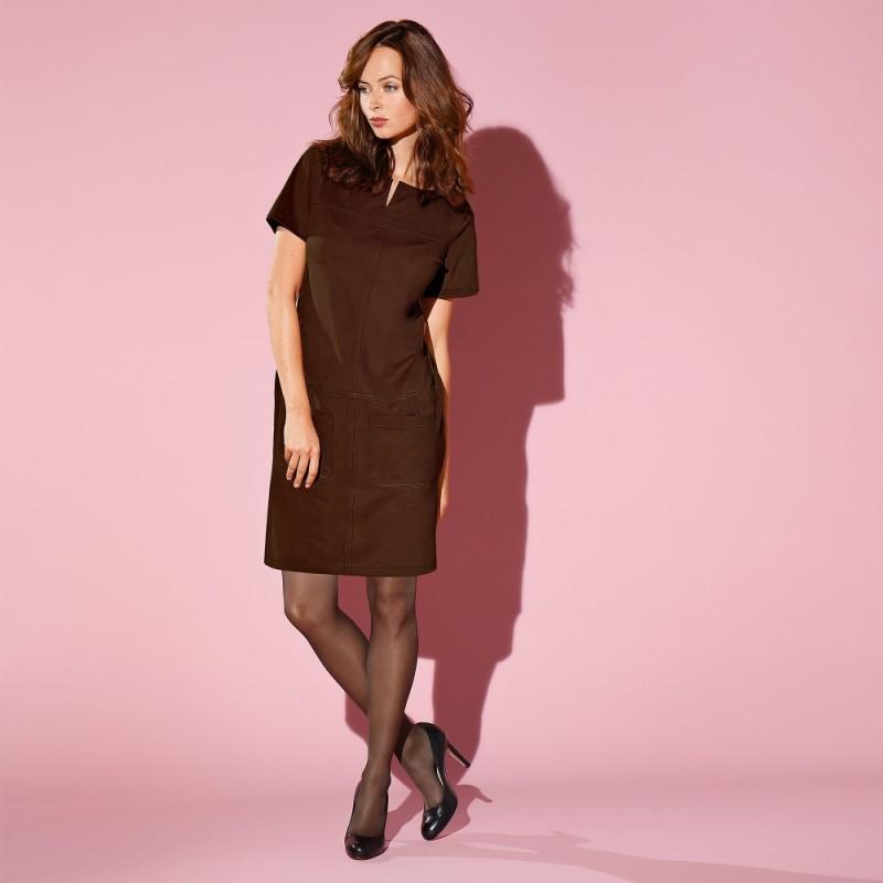 Semišové šaty