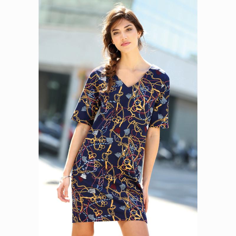 Krátké šaty s potiskem