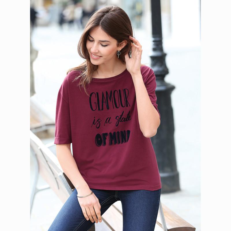 Čtvercové tričko s rukávy k loktům a pot