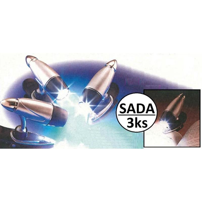 LED clip lampička 3ks