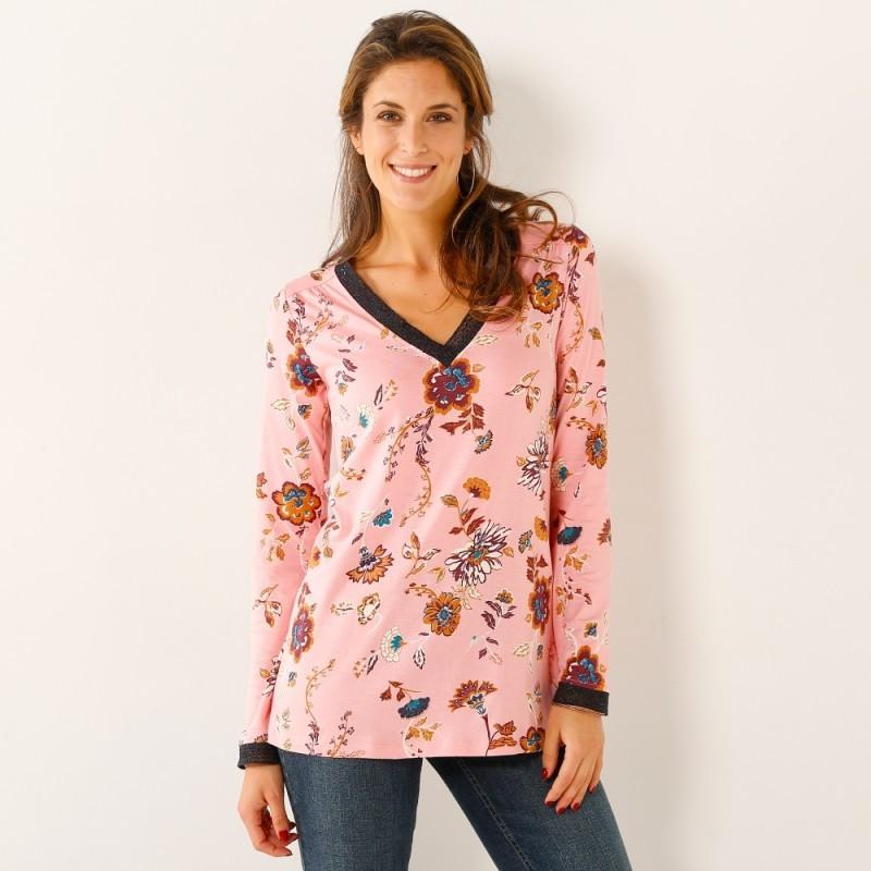 Tričko s potiskem květin