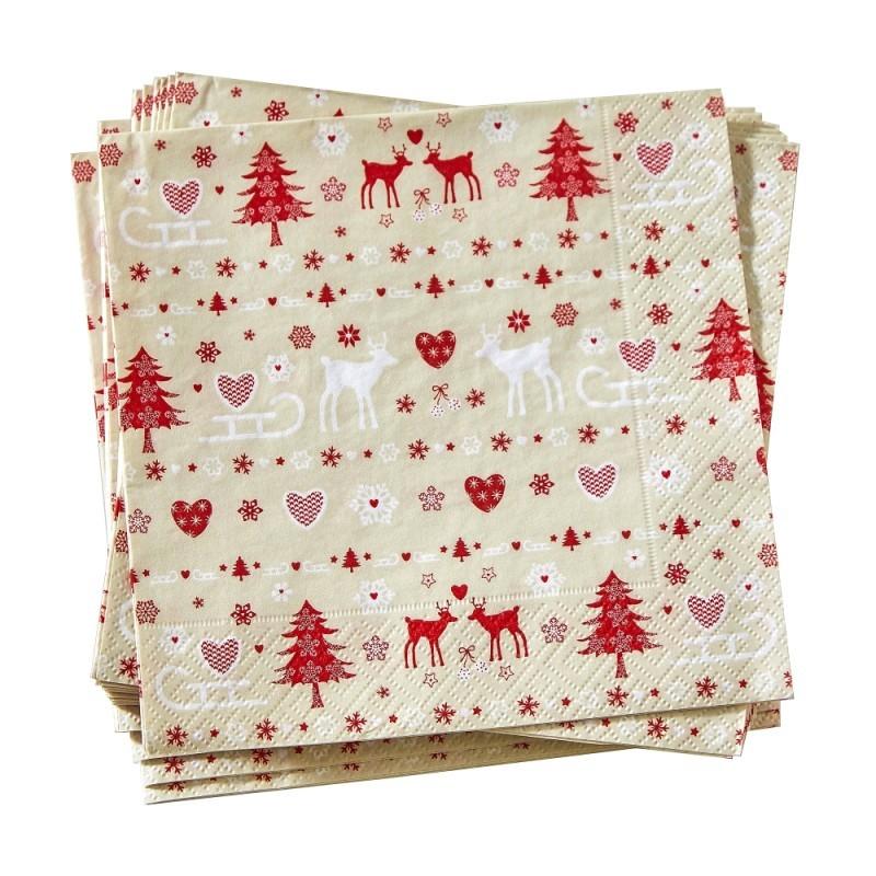 Papierové obrúsky Vianoce