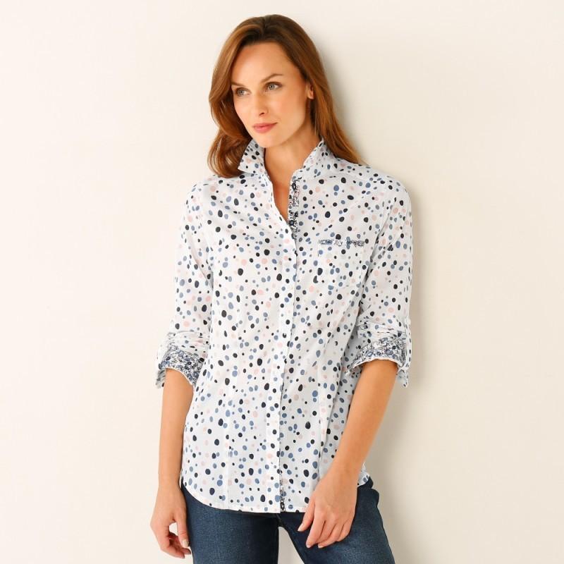 Košeľová blúzka s minimalistickým vzorom