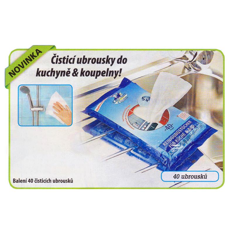 Čistící ubrousky do kuchyně
