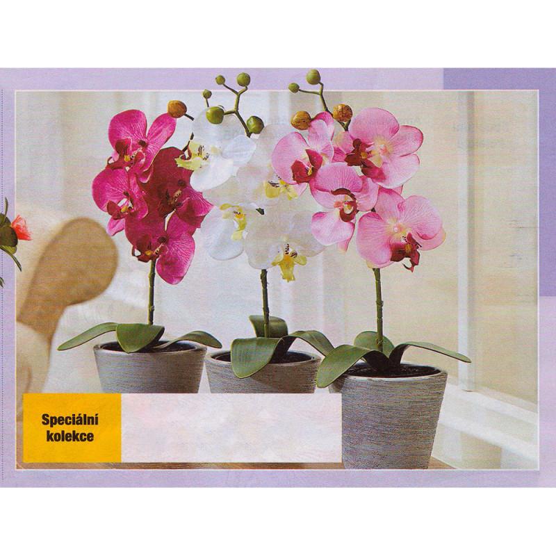 Umělá orchidej - bílá