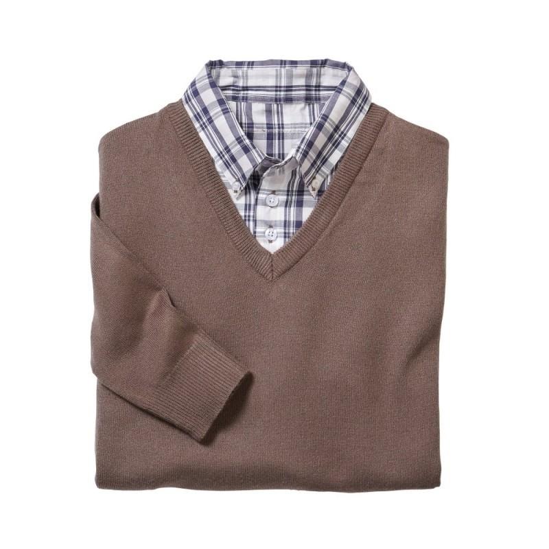 Košilový pulovr 2 v 1