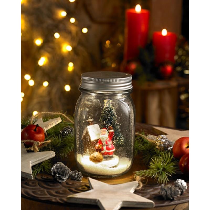 Vianočné scenérie v sklenenej nádobke
