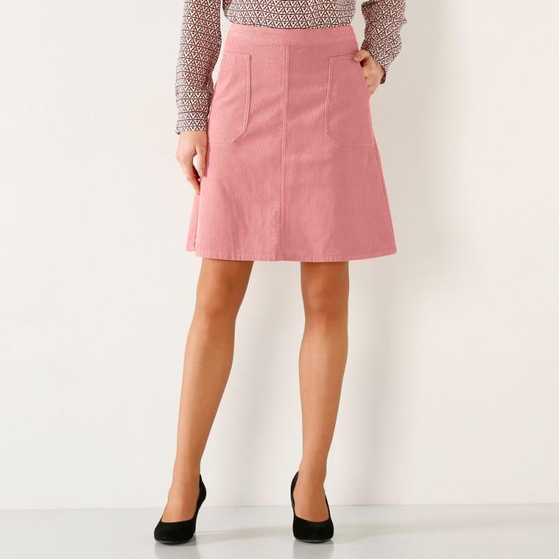 Menčestrová rozšírená sukňa