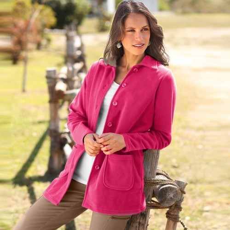 Fleecový kabát