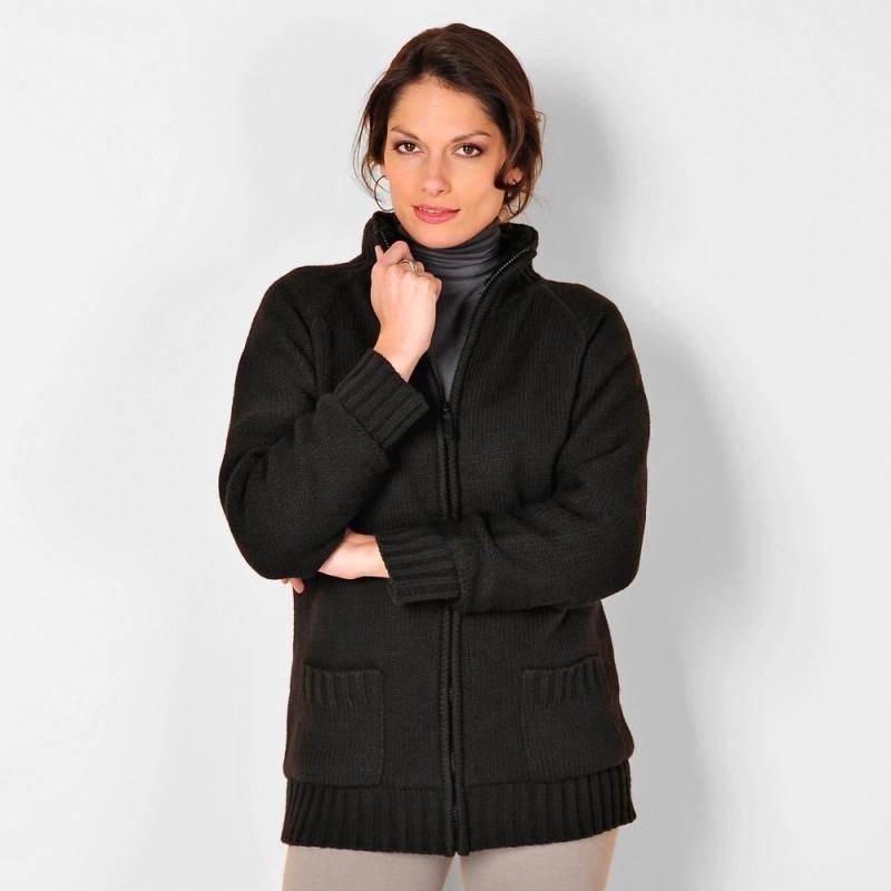 Kabátek s podšívkou z imitace kožešiny