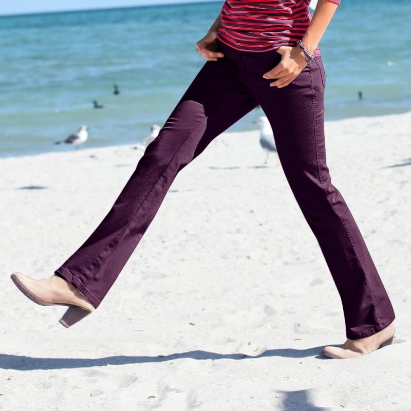 Džínové kalhoty, vyšší postava