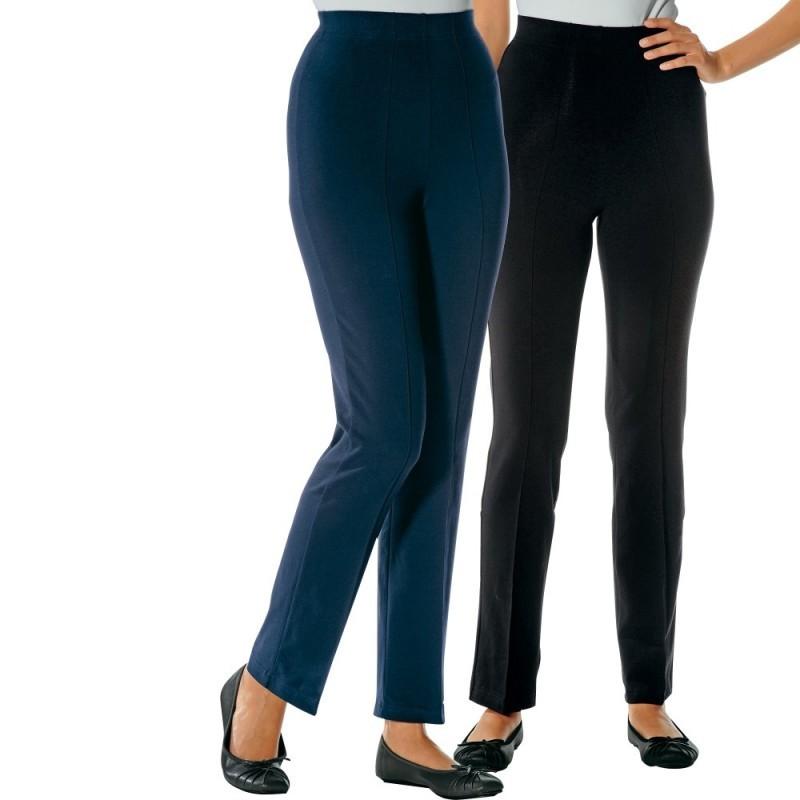 Elastické kalhoty, sada 2 ks