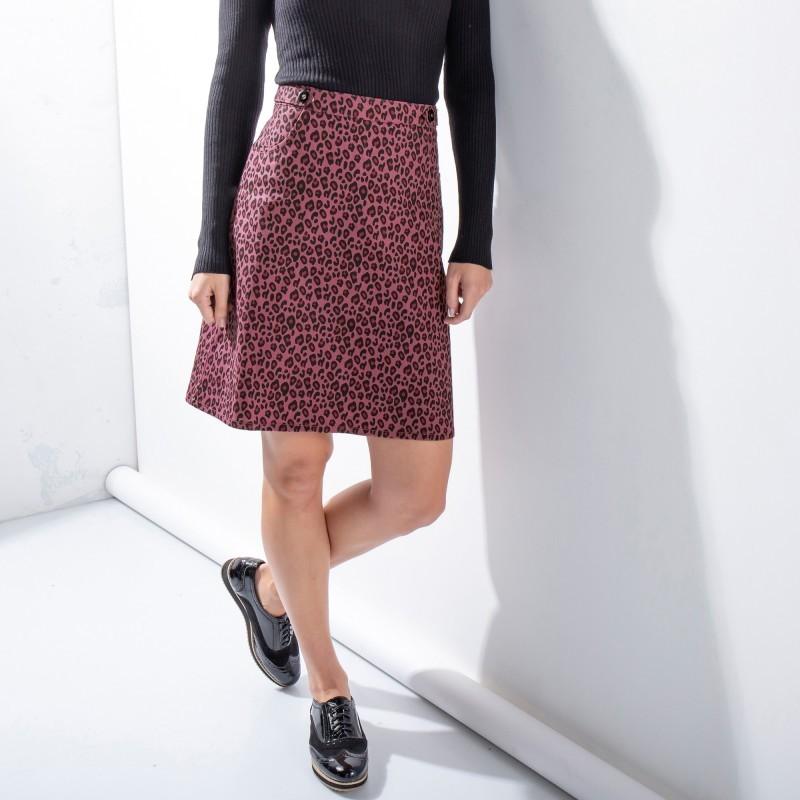 Rozšírená sukňa s potlačou