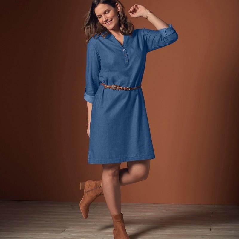 Džínové rovné šaty